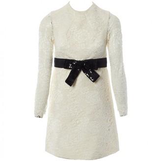 Saint Laurent White Lace Dresses