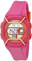 Roxy Women's RX/1015PKOR THE GUARD Pink Digital Chronograph Strap Watch