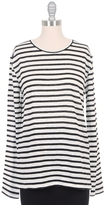 Alexander Wang Stripe Linen Long Sleeve Tee
