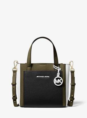 MICHAEL Michael Kors Gemma Small Tri-Color Pebbled Leather Crossbody