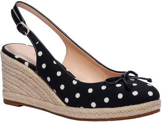 Kate Spade Panama Nights Polka-Dot Wedge Sandals