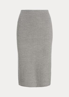 Ralph Lauren Herringbone Wool Pencil Skirt