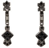 Chanel Black Crystal Drop Earrings