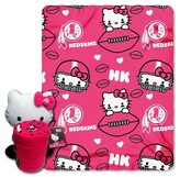 Hello Kitty NFL Redskin Blanket and Hugger Bundle (40 x 50)