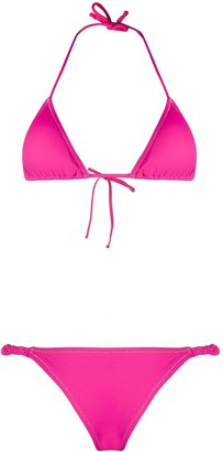 Reina Olga Scrunchie triangle bikini set