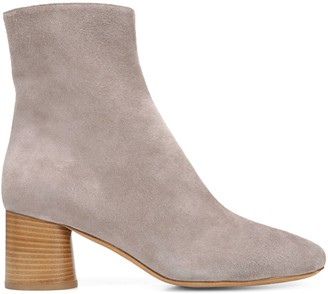 Vince Tasha Suede Stacked Heel Booties