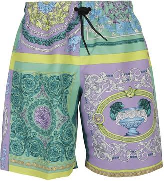 Versace Floral Printed Shorts