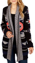 Lucky Brand Aztec Patterned Open-Front Cardigan