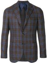 Barba checked button blazer