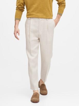 Banana Republic JAPAN EXCLUSIVE Trooper Herringbone Linen Cropped Pant