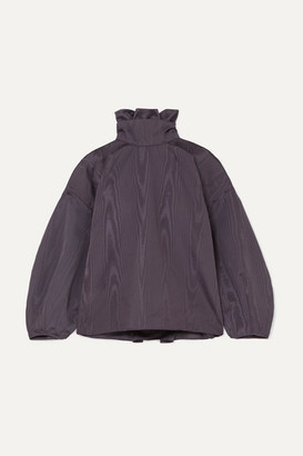 NACKIYÉ Palas Oversized Gathered Moire Top - Purple