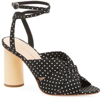 Loeffler Randall Tatiana Polka Dot Cotton Sandals