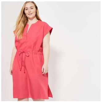 Joe Fresh Women+ Linen Blend Dress, Bright Red (Size 1X)