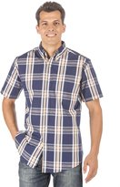 Noble Mount Mens 100% Cotton Casual Short Sleeve Shirt