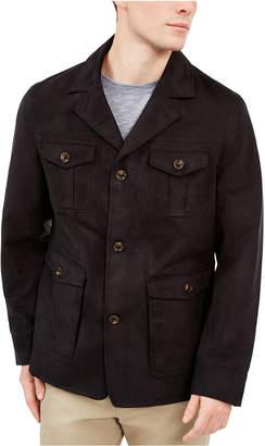 Tasso Elba Men Faux-Suede Four-Pocket Jacket