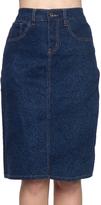 Be Girl Dark Indigo Back Slit Jean Skirt