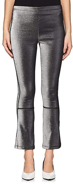 Area Women's Lamé Crop Flared Pants