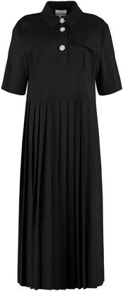 Ganni Pleated Skirt Dress