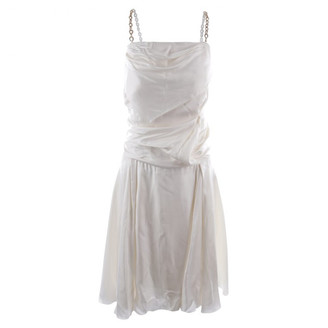 Louis Vuitton White Silk Dresses