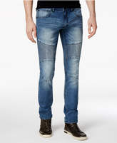 INC International Concepts Men's Medium Wash Moto Skinny Jeans, Created for Macy's