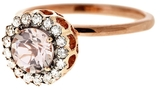 Selim Mouzannar Diamond and Morganite Floral Ring
