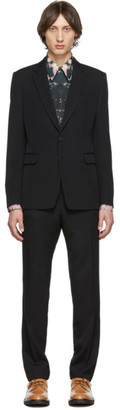Dries Van Noten Black Wool Suit
