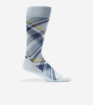 Cole Haan Diagonal Plaid Crew Socks