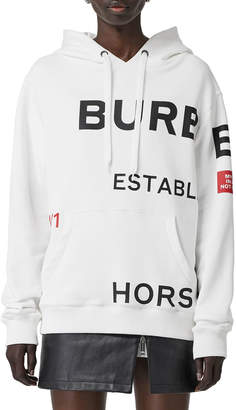 Burberry Horseferry-Print Cotton Oversized Hoodie