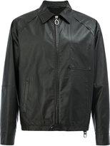 Lanvin zip-up leather jacket - men - Cotton/Lamb Skin/Polyamide/Spandex/Elastane - 46