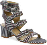 Gunmetal Women's Doree Sandal -Blue/White Stripe