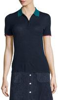 Rag & Bone Alice Colorblock Half-Zip Polo Shirt, Navy