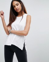 Blank NYC Tank With Side Lace Up Detail