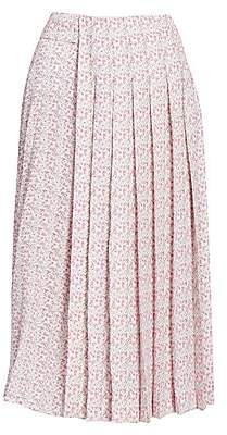 Victoria Beckham Women's Multi Pleat Midi Skirt