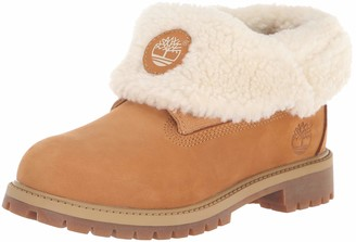Timberland Unisex-Kid's Icon Collection Roll-top with Fleece Fashion Boot