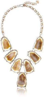 Kendra Scott Women's Harlow Necklace Rose Gold/Suspended Brown Mother-Of-Pearl Necklace