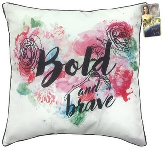 Shopkins Disney Beauty & the Beast Bold and Brave Throw Pillow