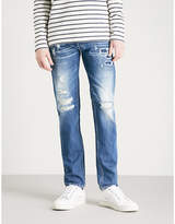 Replay Ronas distressed slim-fit tapered jeans