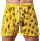 Mendove Mens Sexy Mesh Openwork Drawstring Lounge Boxer Shorts Underwear US M