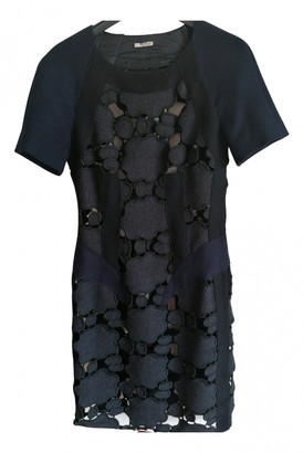 Miu Miu Grey Wool Dresses