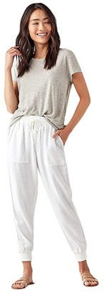 Splendid Lakeside Joggers in Tencel Linen Blend (White) Women's Casual Pants