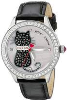 Betsey Johnson Women's BJ00517-06 Analog Display Quartz Black Watch