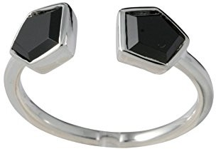 Canyon Ring - 925 Sterling Silver Onyx R3966 black