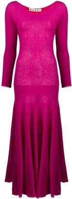 Marni Cashmere Pleated Knit Dress