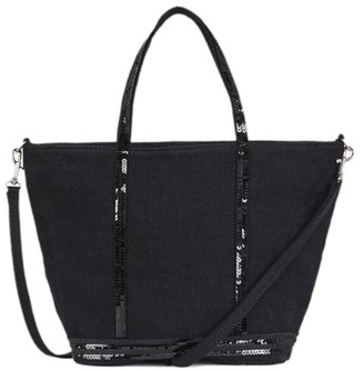 Vanessa Bruno Small linen And Sequins Cabas Tote Bag