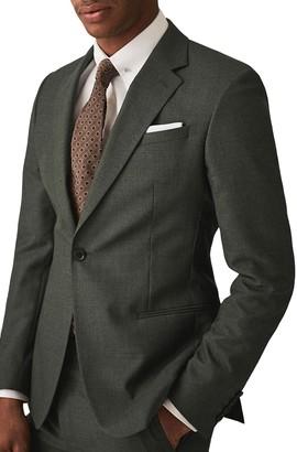 Reiss Foster Notch Collar Single Button Jacket