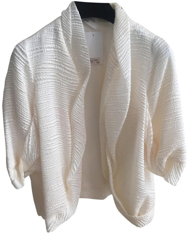 David Szeto Ecru Silk Jacket for Women