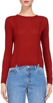 Whistles Charo Notched Hem Knit Top