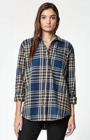 Obey Garrison Plaid Flannel Button-Down Shirt