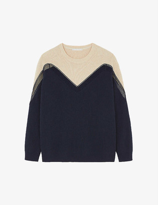 Stella McCartney Two-tone cashmere and wool-blend jumper