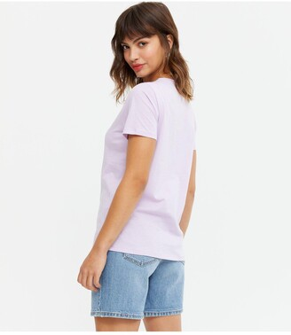 New Look Flower T-Shirt - Lilac